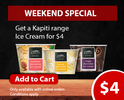 Get our Kapiti range Ice cream for $4.